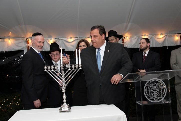 Rabbi Kotler with Former NJ Gov Chris Christie