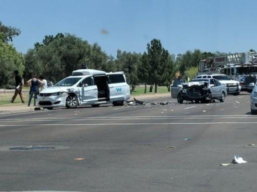 Phoenix, AZ – Waymo Self-driving Car Hit In Collision On Arizona Street