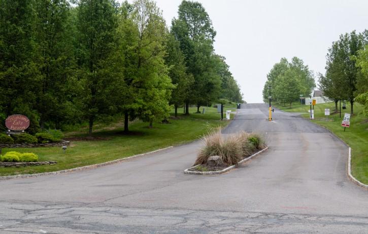 Entrance to Highland Lake Estates in Highland Mills, NY on Ridge Rd.