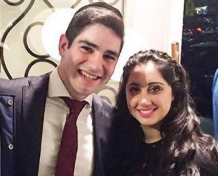 Yisroel Levin, 21, and his fiancée, Elisheva Basya Kaplan, 20