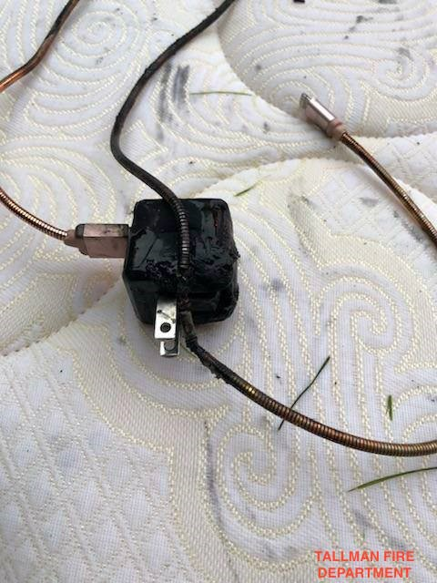 The burnt wire