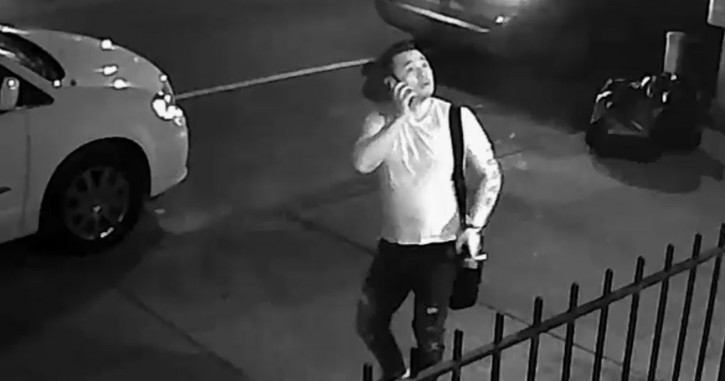 An Image from surveillance video of the suspect