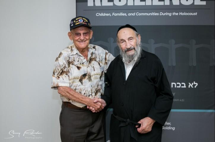 Lipot Rubinstein and Nanuet resident Alan Moskin. (photo: Shimmy Rubinstein)