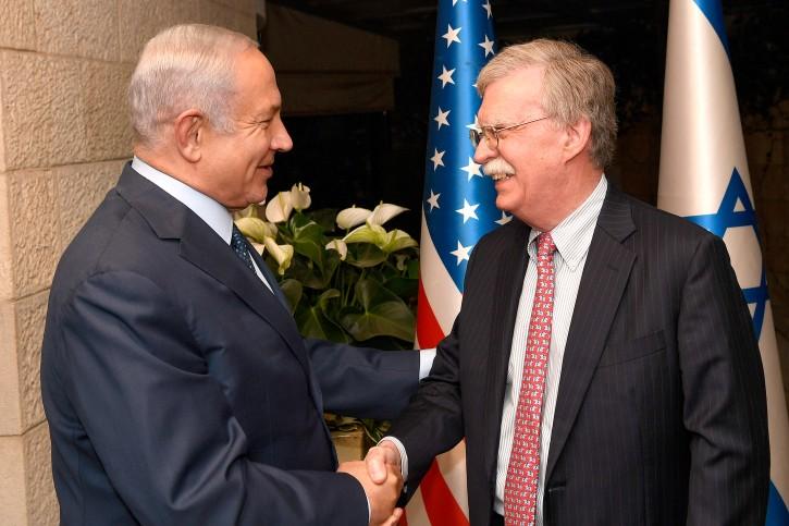 Jerusalem – Bolton Meets Netanyahu In Jerusalem To Discuss Iran