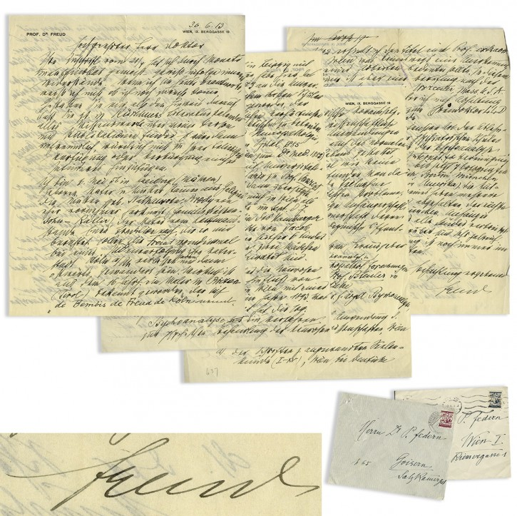 Los Angeles – Rare Letter Detailing Freud's Jewish Background To Be Auctioned Off