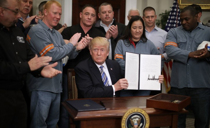 Washington – WSJ: Trump Says His Steel Tariffs Will Save The U.S. Industry