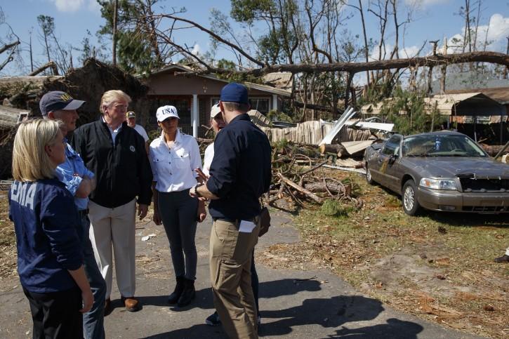 Lynn Haven Fl Trump Marvels At Damage From Hurricane