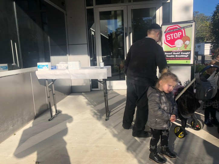 Rockland County DOH free MMR vaccine clinic at Community Outreach Center in Monsey. Sandy Eller/VINnews.com)