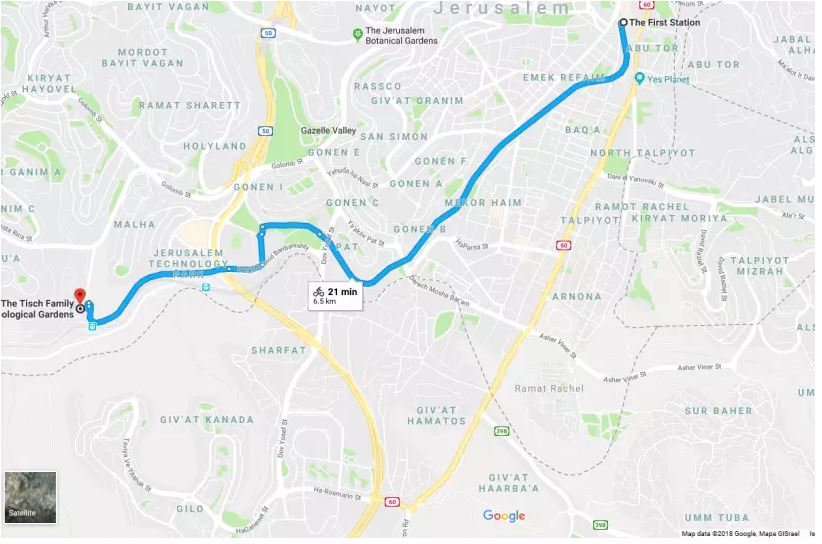 Israel - Google Maps Introduces Jerusalem Bike Routes Feature