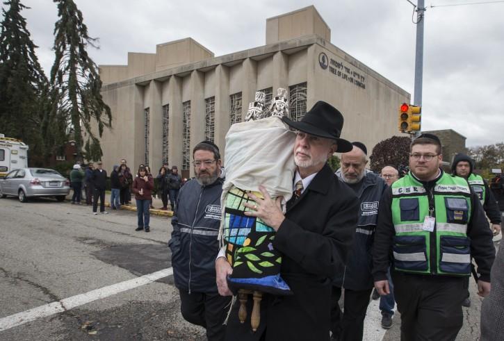 Rabbi Jeffrey Meyers, spiritual leader of the Tree Of Life synagogue. AP