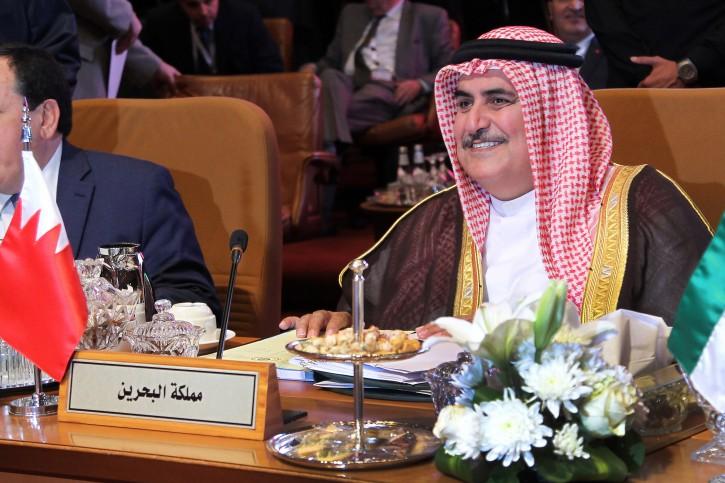 FILE -  Bahraini Minister of Foreign Affairs Khalid bin Ahmed al-Khalifa attends a preparatory meeting of Arab Foreign Ministers ahead of the 29th Summit of the Arab League in Riyadh, Saudi Arabia, 12 April 2018. EPA