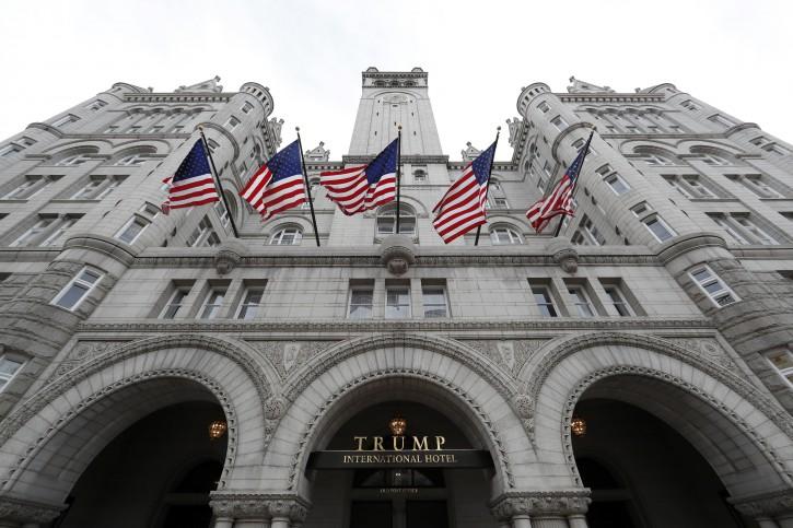 The Trump International Hotel at 1100 Pennsylvania Avenue NW, is seen Wednesday, Dec. 21, 2016 in Washington. (AP Photo/Alex Brandon)