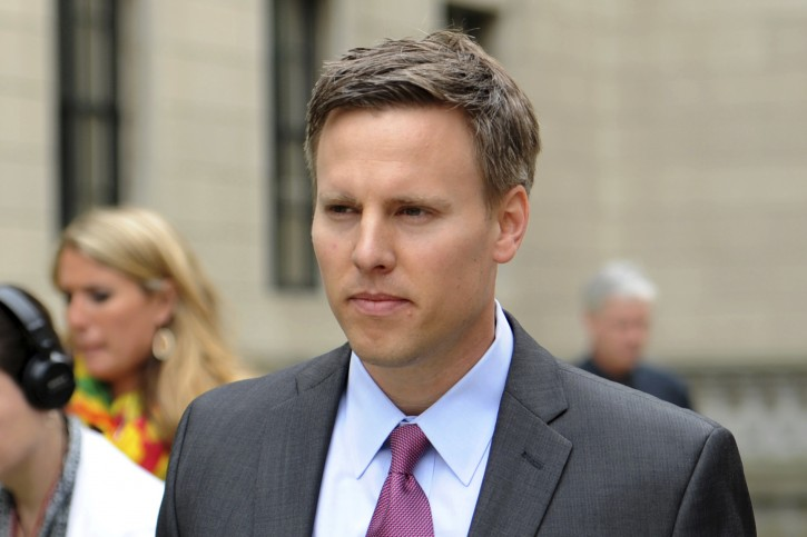 FILE - In this June 9, 2014 file photo Bill Stepien, , leaves the New Jersey State House. White House political director Bill Stepien and deputy Justin Clark are leaving the administration to work on President Donald Trump's re-election campaign. (AP Photo/The Record of Bergen County, Amy Newman)