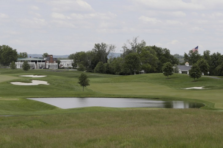 This May 24, 2017 file photo shows a view of Trump National Golf Club in Bedminster, N.J.  AP