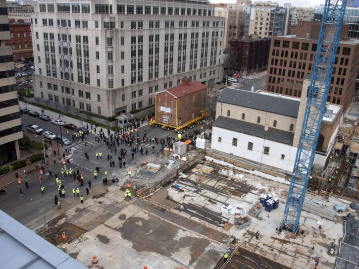Capital Jewish Museum Synagogue move in Washington, DC on Wednesday, January 9, 2019. (Ron Sachs / CNP)