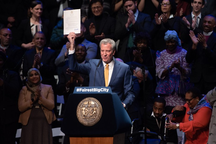 Mayor Bill de Blasio delivers his sixth State of the City address at the Symphony Space in Manhattan on Thursday, January 10, 2017. (Michael Appleton/Mayoral Photography Office)