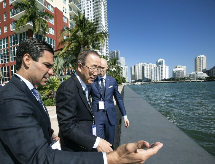 Miami – Former UN Leader Tours Climate Adaptation Projects In Miami