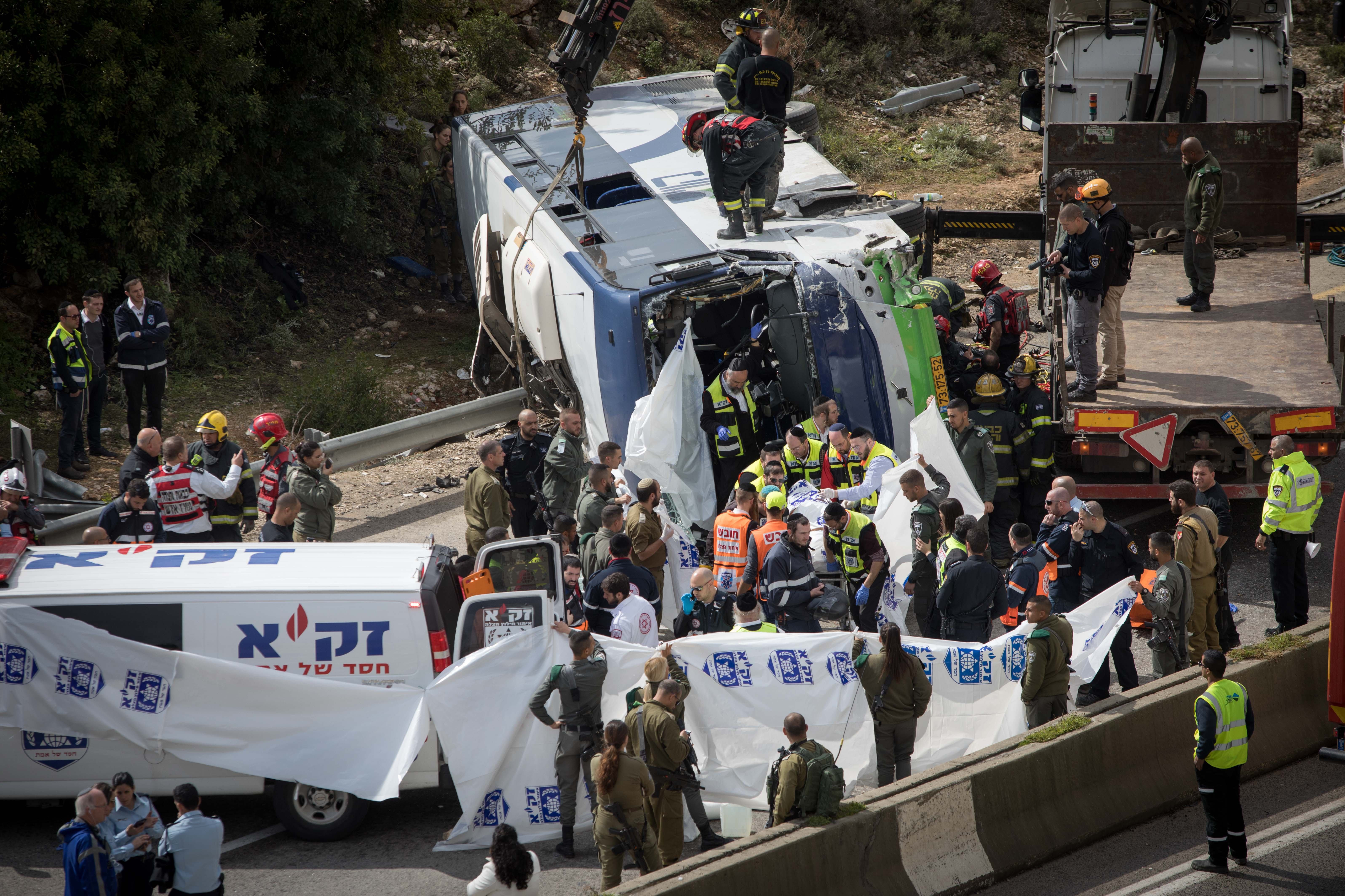Jerusalem - 2 Killed, Dozens Injured When Public Bus Overturns On