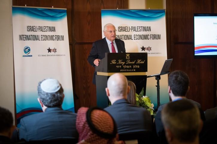 US ambassador to Israel David Friedman at the Israeli - Palestinian International Economic Forum in Jerusalem on February 21, 2019. Photo by Yonatan Sindel/Flash90