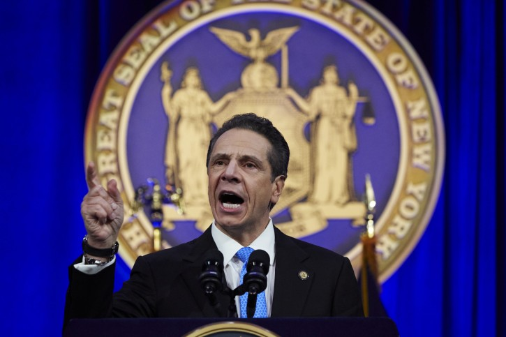 FILE - New York State Governor Andrew Cuomo delivers a speech in New York, New York, USA, 01 January 2019. EPA