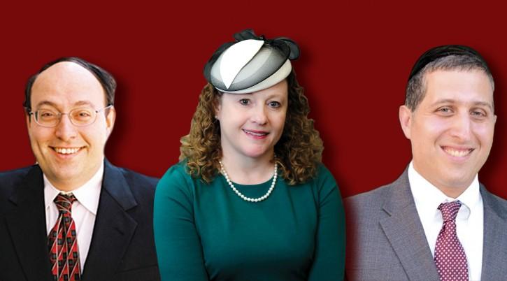Left to right, Rabbi Nathaniel Helfgot, Marianne Novak and Rabbi Kenny Schiowitz. (Courtesy of the Jewish Standard)