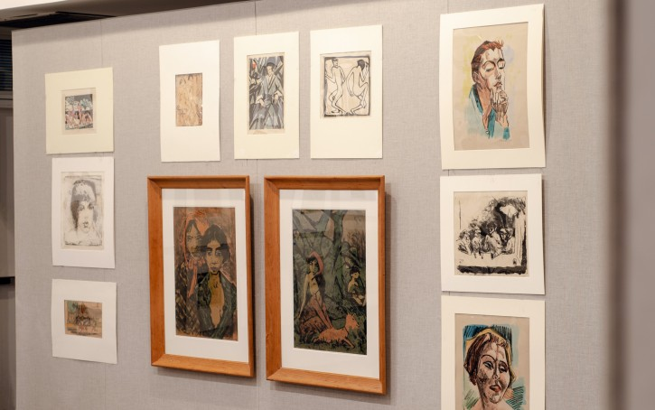 In this undated photo art is displayed that is going up for auction at Swann Auction Galleries in New York that were once part of a 6,000-piece collection amassed by a Jewish attorney in Germany before pieces were scattered and lost as the Nazis took over. AP