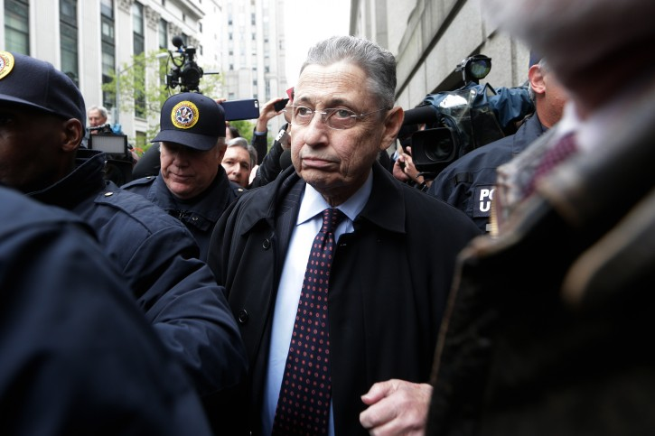 FILE -  Sheldon Silver, the former speaker of the New York State Assembly, leaves  federal court after his sentencing in New York, New York, USA, 03 May 2015.EPA