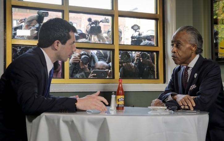 New York – Presidential Hopeful Buttigieg, Al Sharpton Meet In Harlem