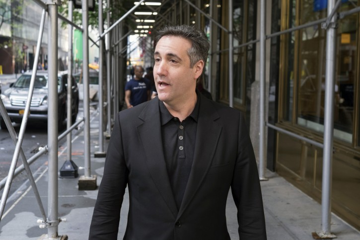 Michael Cohen, President Donald Trump's former personal attorney, stops to talk to a member of the press, Saturday, May 4, 2019, in New York, NY. (AP Photo/Jonathan Carroll)