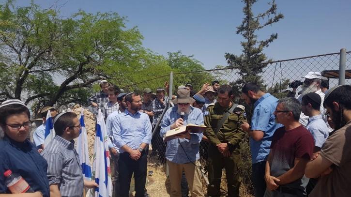 The funeral at Kfar Adumim.