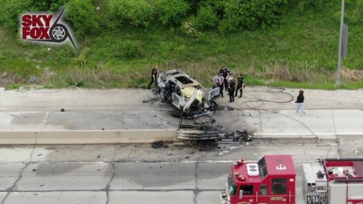 The horrific crash where Miller was in