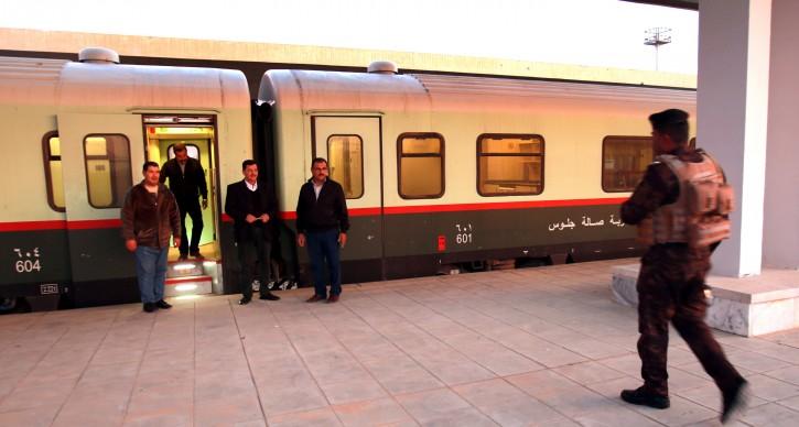 FILE - Employees of Fallujah railway station wait for passengers at the train station in Fallujah city, 60km western Bghadad, Iraq, 29 November 2018.  EPA