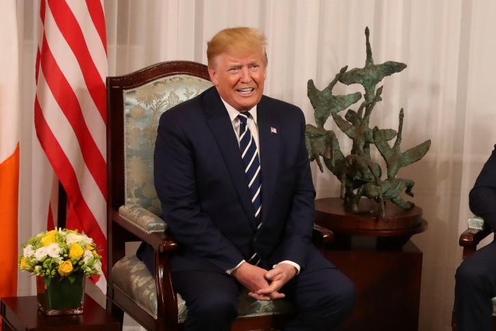 U.S. President Donald Trump meets with Ireland's Prime Minister (Taoiseach) Leo Varadkar at Shannon Airport in Shannon, Ireland, June 5, 2019. Liam McBurney/Pool via REUTERS