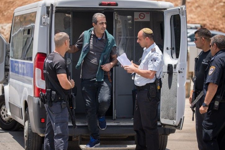 Mahmoud Katusa, seen after his relese from Israeli Jail, at the Beitunia crossing, in the West Bank city of Ramallah, June 25, 2019. Photo by Yonatan Sindel/Flash90