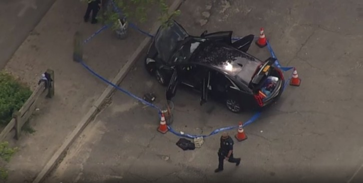 The Black sedan of the missing NYPD detective