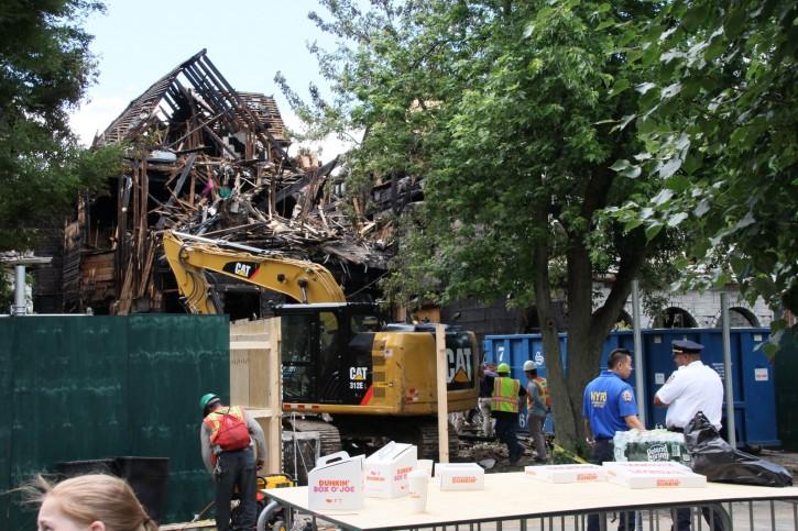 The burnt home is seen Friday June 14, 2019 (Shimon Gifter/VINnews.com)