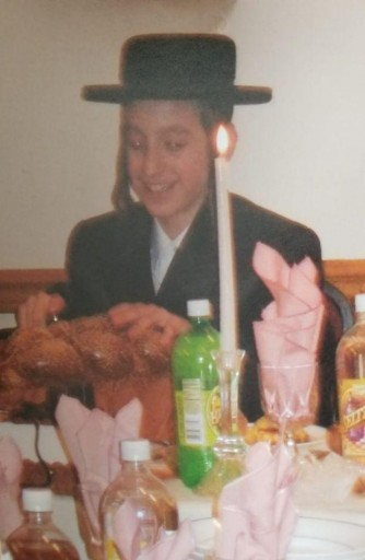 Schwartz in his teenage years in Monsey