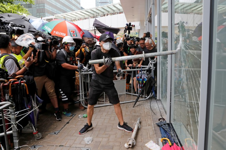 Hong Kong Hong Kong Protesters Run Riot In Legislature