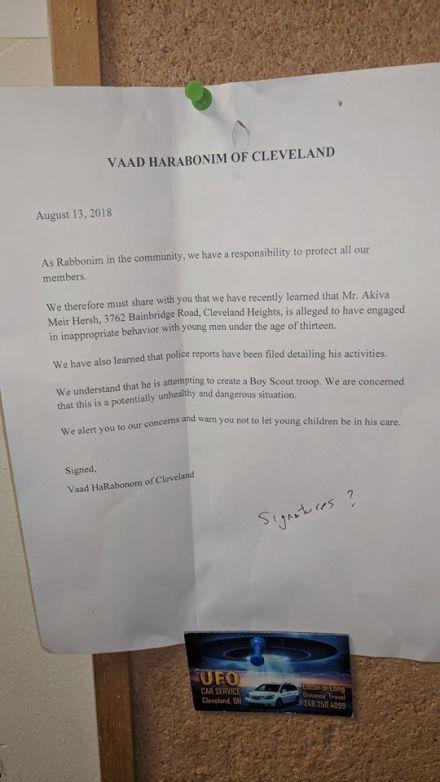 Cleveland, OH - Ohio Orthodox Jewish Man Accused Of Abusing
